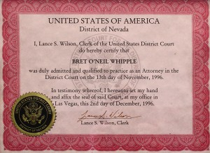 United States District Court certification
